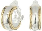 LAUREN Ralph Lauren Back to Basics II Two-Tone Wedding Band Clip Hoop Earrings
