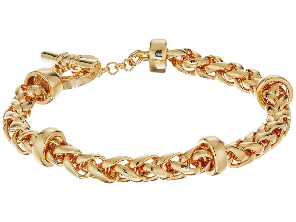 LAUREN Ralph Lauren - Back to Basics II Braided Gold Chain Bracelet (Gold) Bracelet