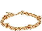 LAUREN Ralph Lauren Back to Basics II Braided Gold Chain Bracelet
