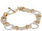 LAUREN Ralph Lauren Back to Basics II 7.5 Fine Chain and Ring Two-Tone Bracelet