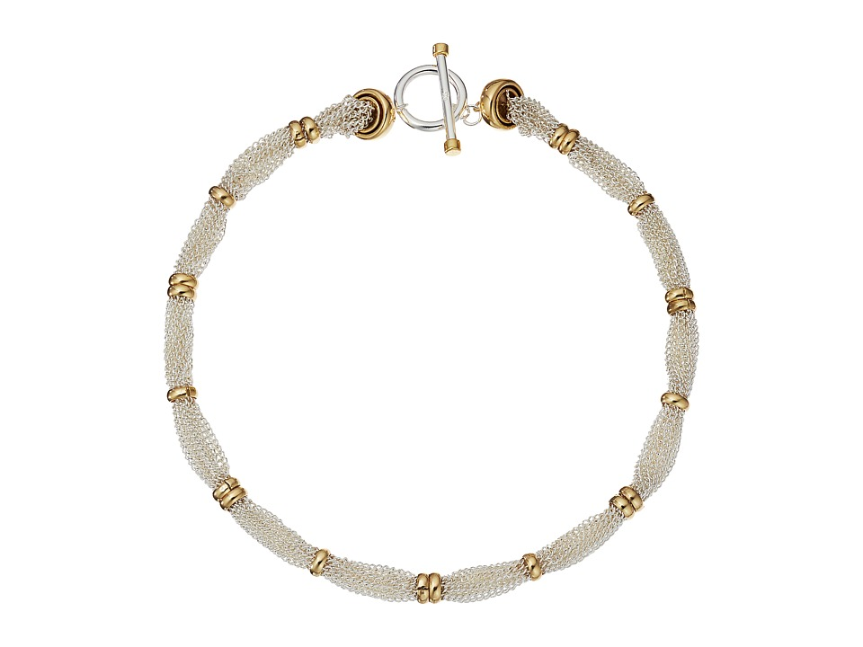 LAUREN Ralph Lauren - Back to Basics II 18 Fine Chain and Ring Two-Tone Necklace (Two-Tone) Necklace