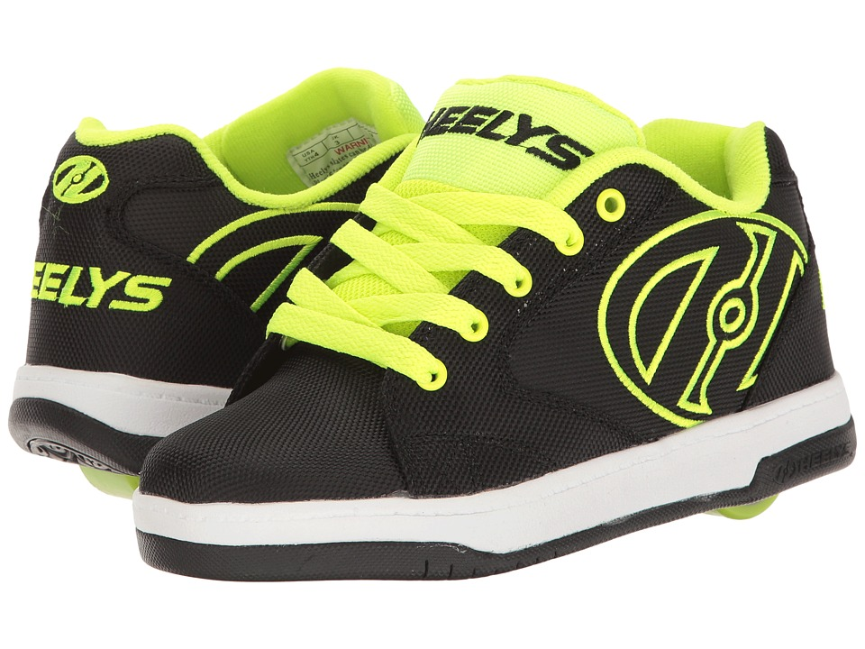 Heelys Propel 2.0 Ballistic (Little Kid/Big Kid/Adult) (Black/Bright Yellow/Ballistic) Boys Shoes
