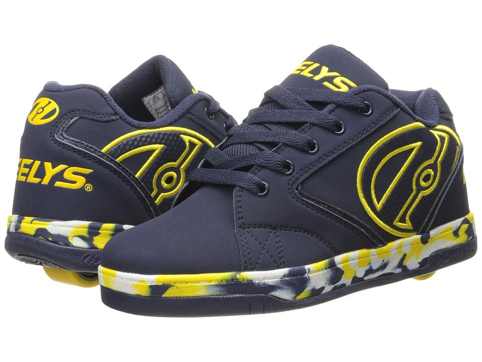 Heelys Propel 2.0 (Little Kid/Big Kid/Adult) (Navy/Yellow/Confetti) Boys Shoes
