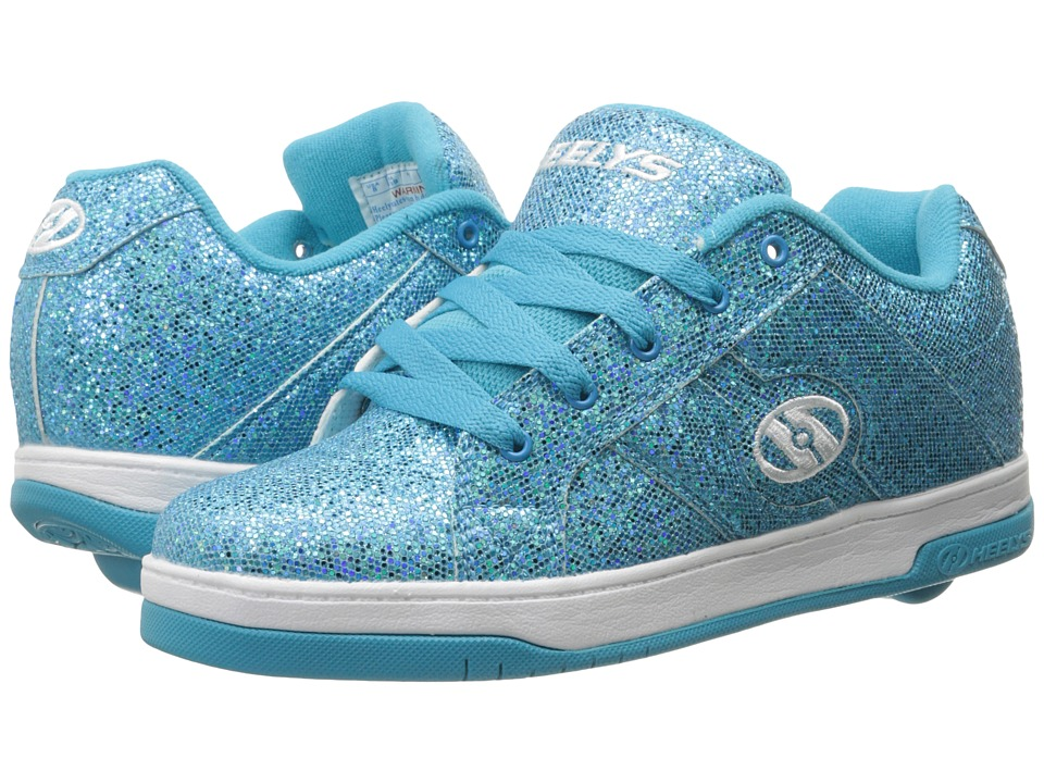 Heelys Split (Little Kid/Big Kid/Adult) (Blue Disco Glitter) Girls Shoes