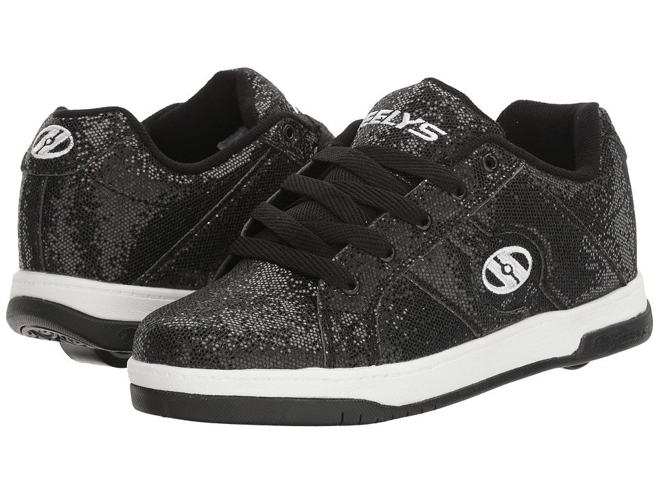 Heelys Split (Little Kid/Big Kid/Adult) (Black Disco Glitter) Girls Shoes