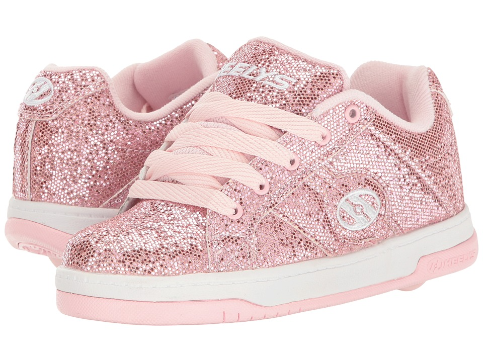 Heelys Split (Little Kid/Big Kid/Adult) (Light Pink Disco Glitter) Girls Shoes