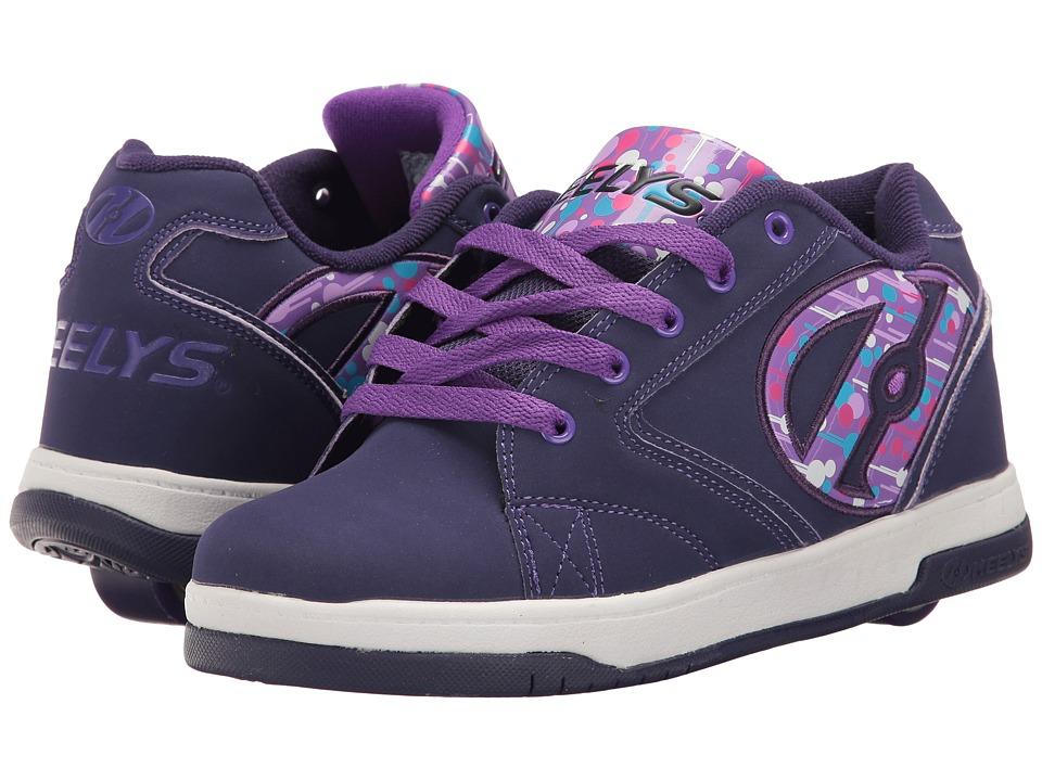 Heelys Propel 2.0 (Little Kid/Big Kid/Adult) (Purple/Drip) Girls Shoes