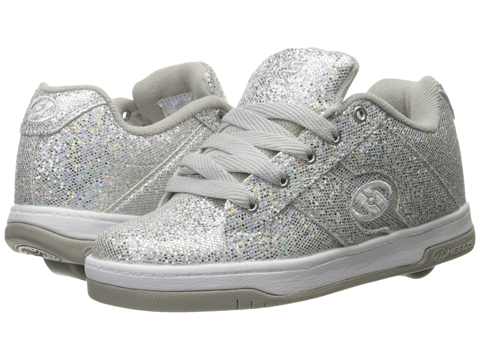 Heelys Split (Little Kid/Big Kid/Adult) (Silver Disco Glitter) Girls Shoes