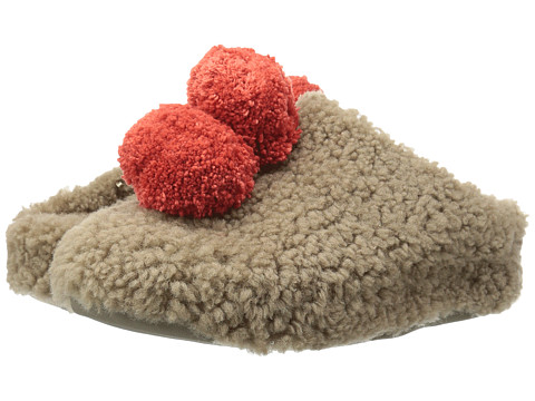 FitFlop House with Pom Poms - Timberwolf