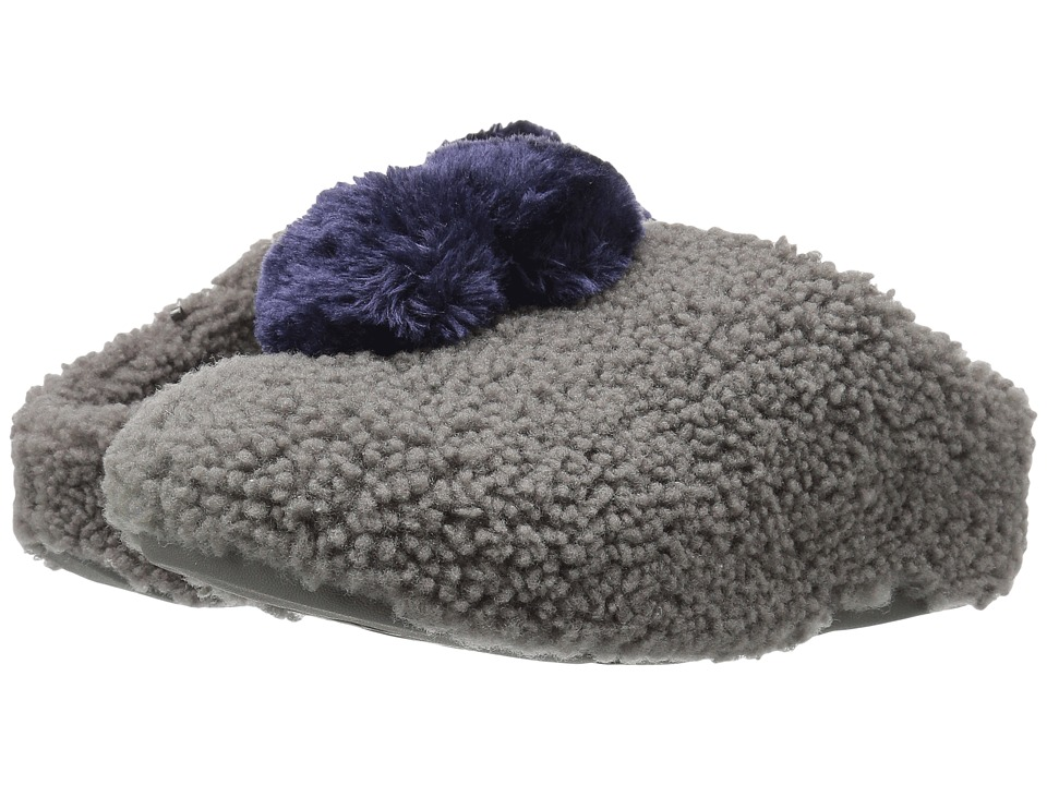 FitFlop House with Pom Poms (Charcoal) Women