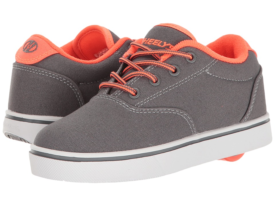 Heelys Launch (Little Kid/Big Kid/Adult) (Charcoal/Orange) Boys Shoes