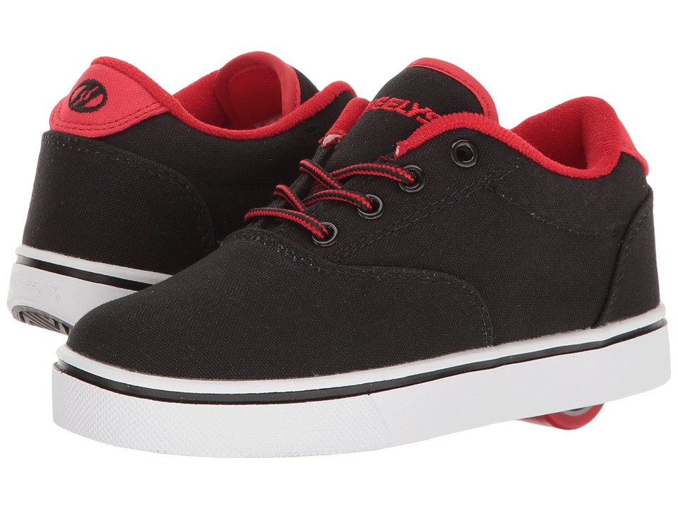 Heelys Launch (Little Kid/Big Kid/Adult) (Black/Black/Red) Boys Shoes
