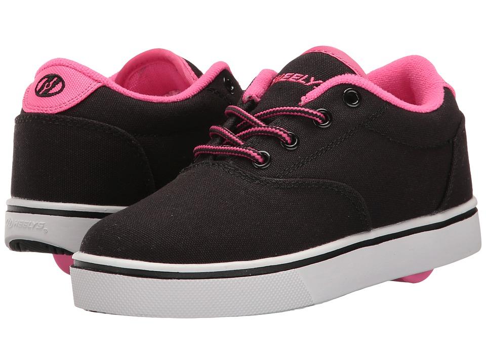 Heelys Launch (Little Kid/Big Kid/Adult) (Black/Neon Pink/White) Girls Shoes