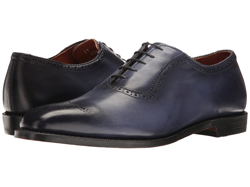 1950s Style Mens Shoes Allen-Edmonds - Cornwallis Blue Leather Mens Plain Toe Shoes $395.00 AT vintagedancer.com