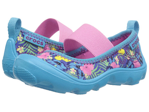 Crocs Kids Duet Busy Day Mary Jane Graphic PS (Toddler/Little Kid)