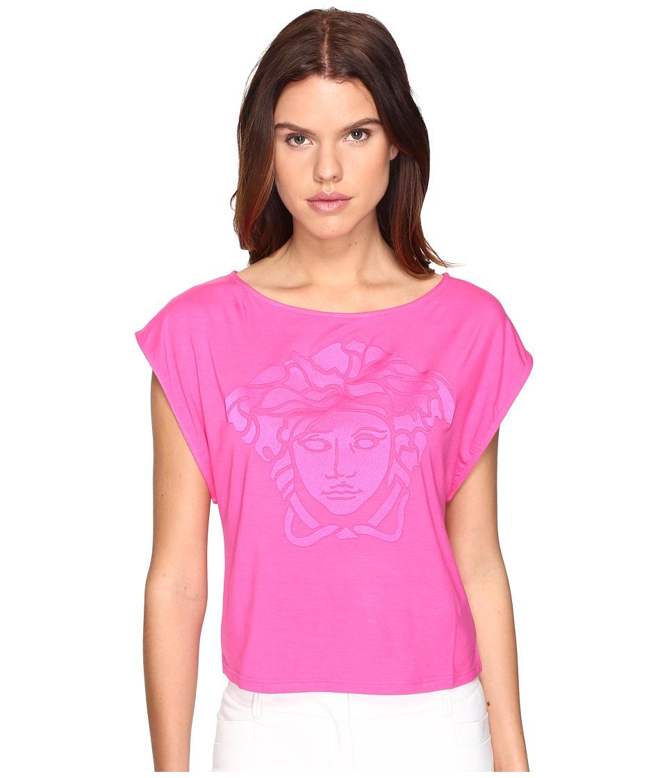 Versace Oversize Logo T-Shirt (Fuchsia) Women