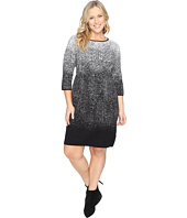 Vince Camuto Specialty Size - Plus Size 3/4 Sleeve Ombre Jacquard Sweater Dress