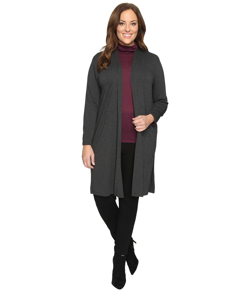 Vince Camuto Specialty Size - Plus Size Long Sleeve Open Front Maxi Cardigan with Side Slits
