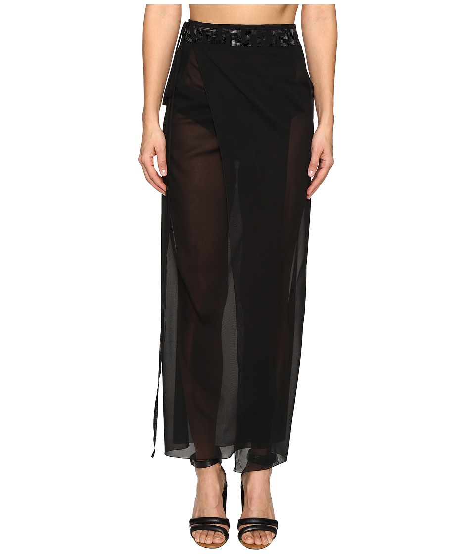 Versace - Pareo w/ Slit (Nero) Womens Clothing