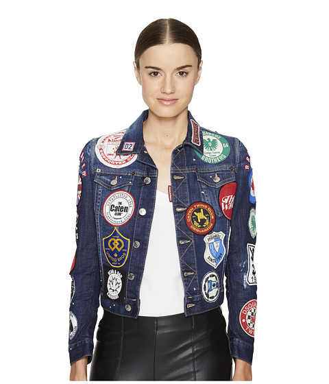 DSQUARED2 Denim Multi Patch Jacket
