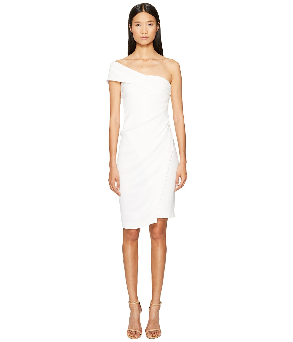 DSQUARED2 Textured Viscose Jersey One Shoulder Dress (White) Women