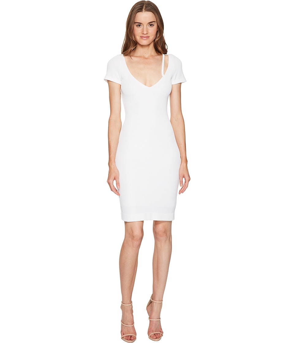 DSQUARED2 Textured Viscose Jersey Short Sleeve Dress (White) Women