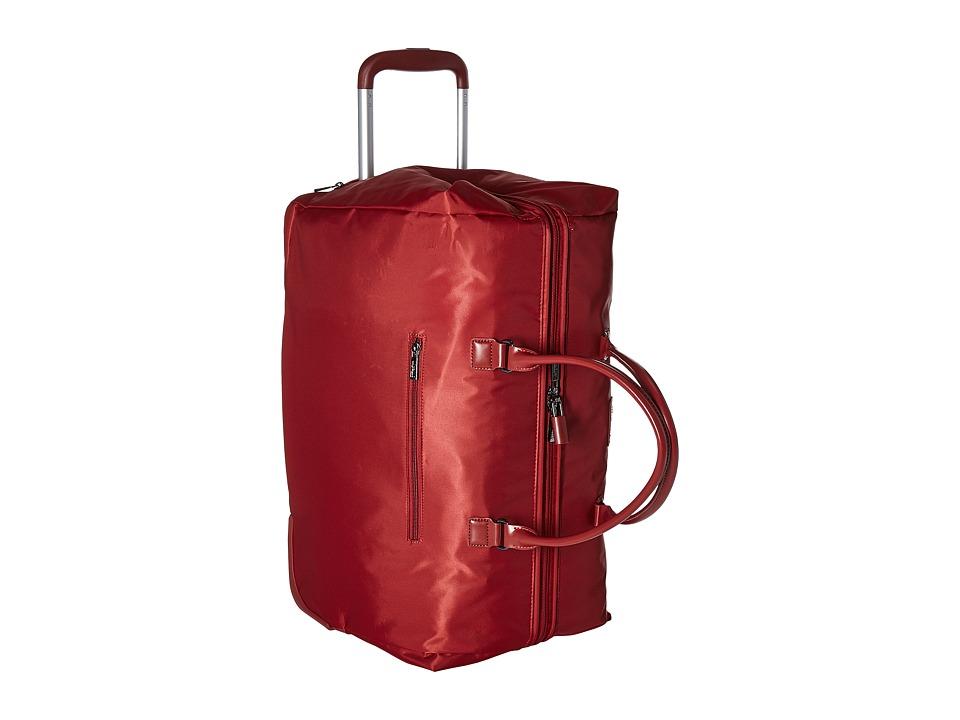 Lipault Paris - Lady Plume Wheeled Weekend Bag (Ruby) Weekender/Overnight Luggage
