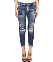 DSQUARED2 - Cloudy Ripped Destroyed Wash Jeans in Blue