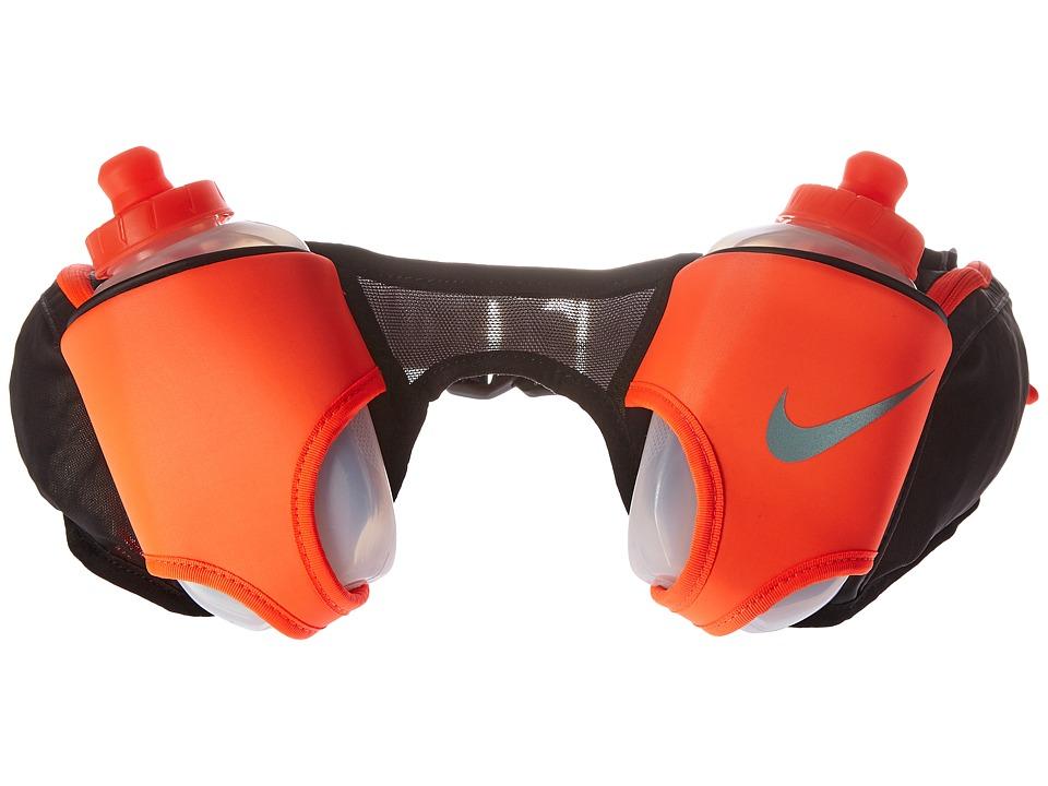 Nike Double Flask Belt 20oz (Black/Total Crimson/Silver) ...