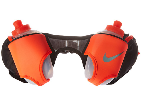 Nike Double Flask Belt 20oz - Black/Total Crimson/Silver