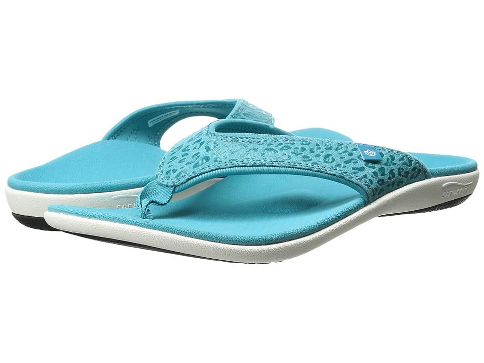 Spenco - Cheetah Print (Blue Bird) Women's Sandals