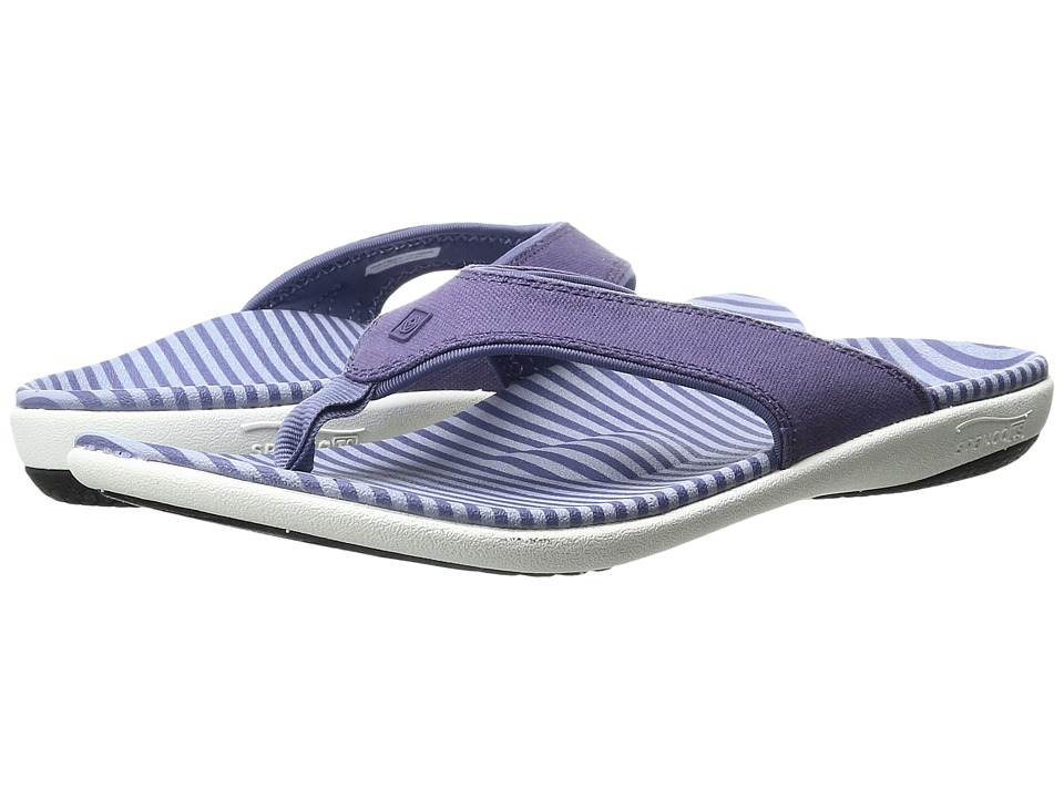 Spenco - Canvas Stripe (Amethyst) Women's Sandals