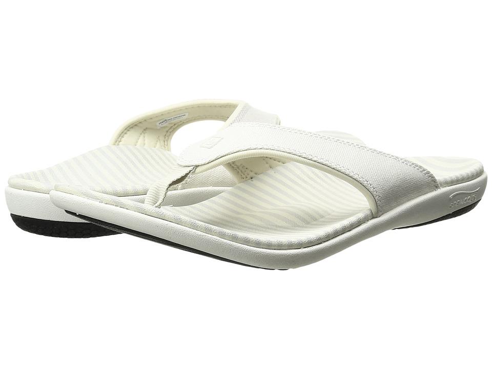 Spenco Canvas Stripe (Powder) Sandals