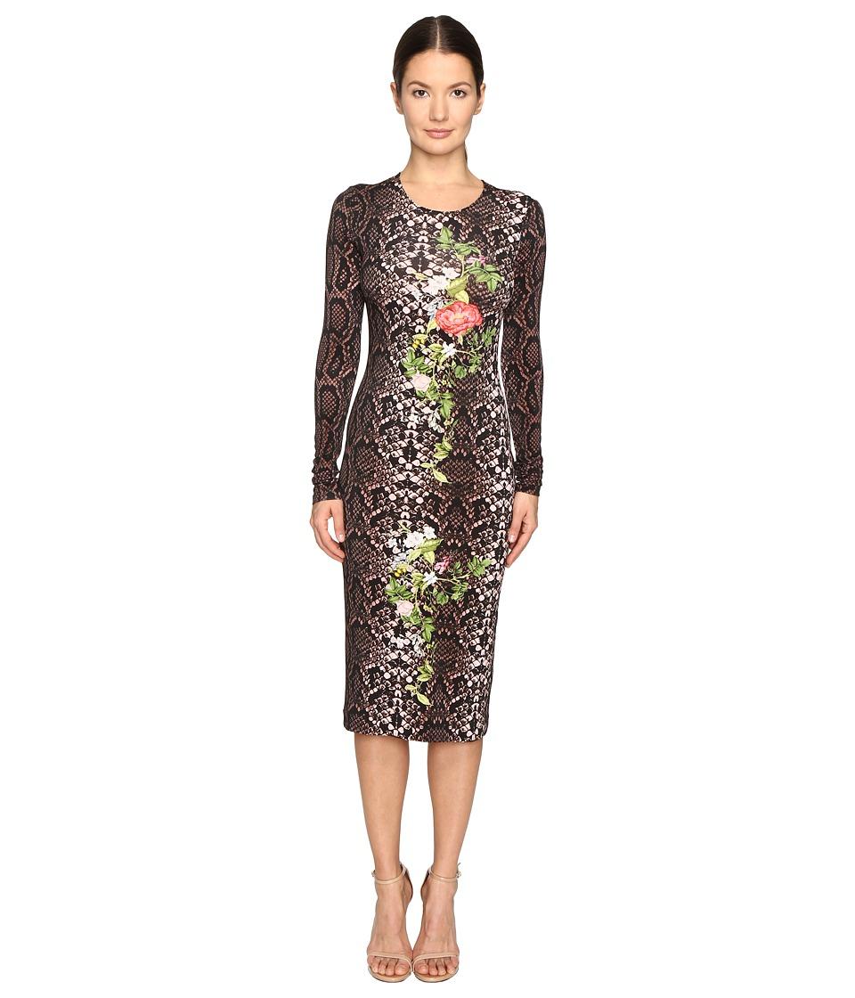 Preen by Thornton Bregazzi Amos Printed Jersey Dress (Rose Python) Women