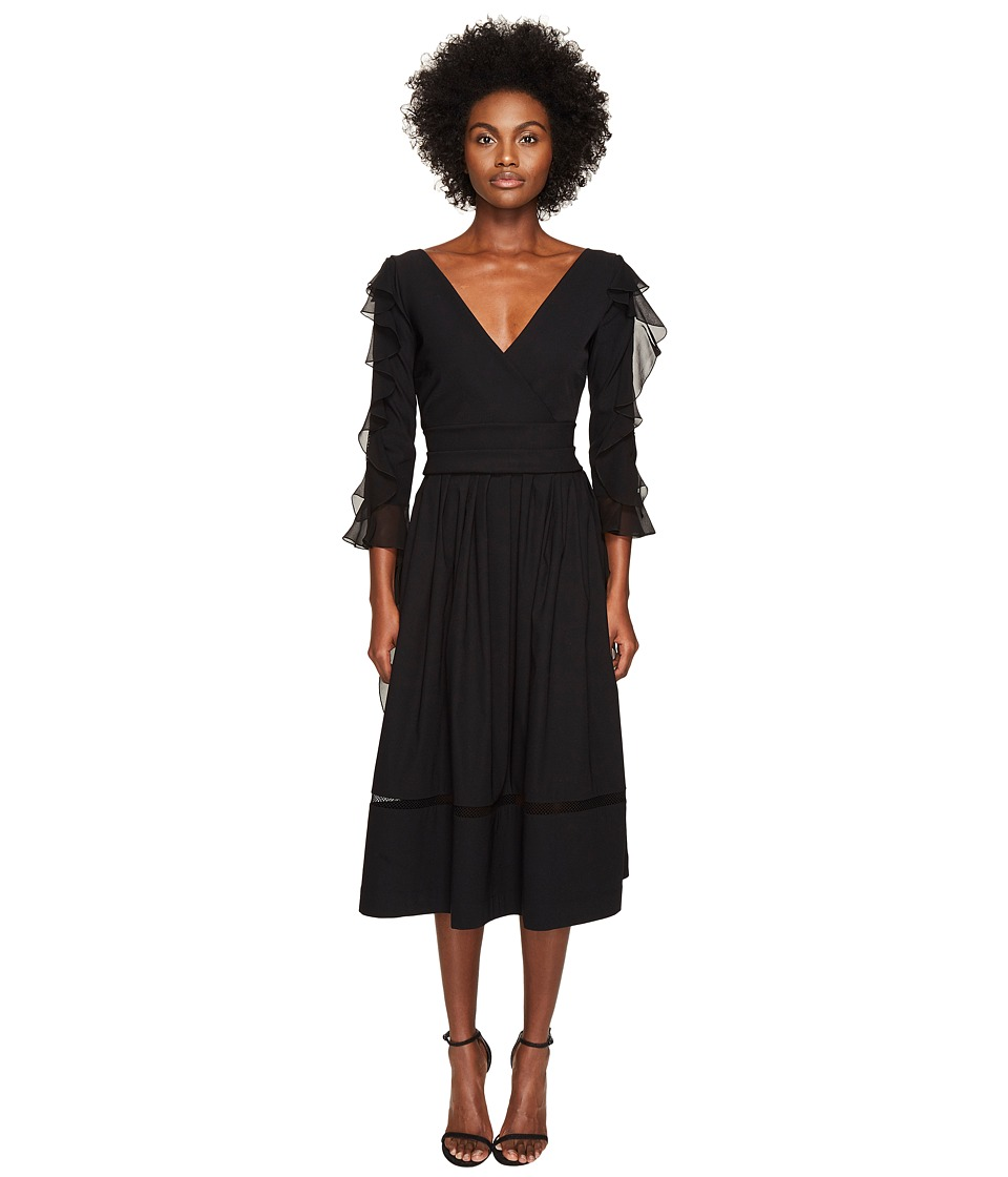 Preen by Thornton Bregazzi - Alva Ted Stretch Satin Dress (Black) Womens Dress