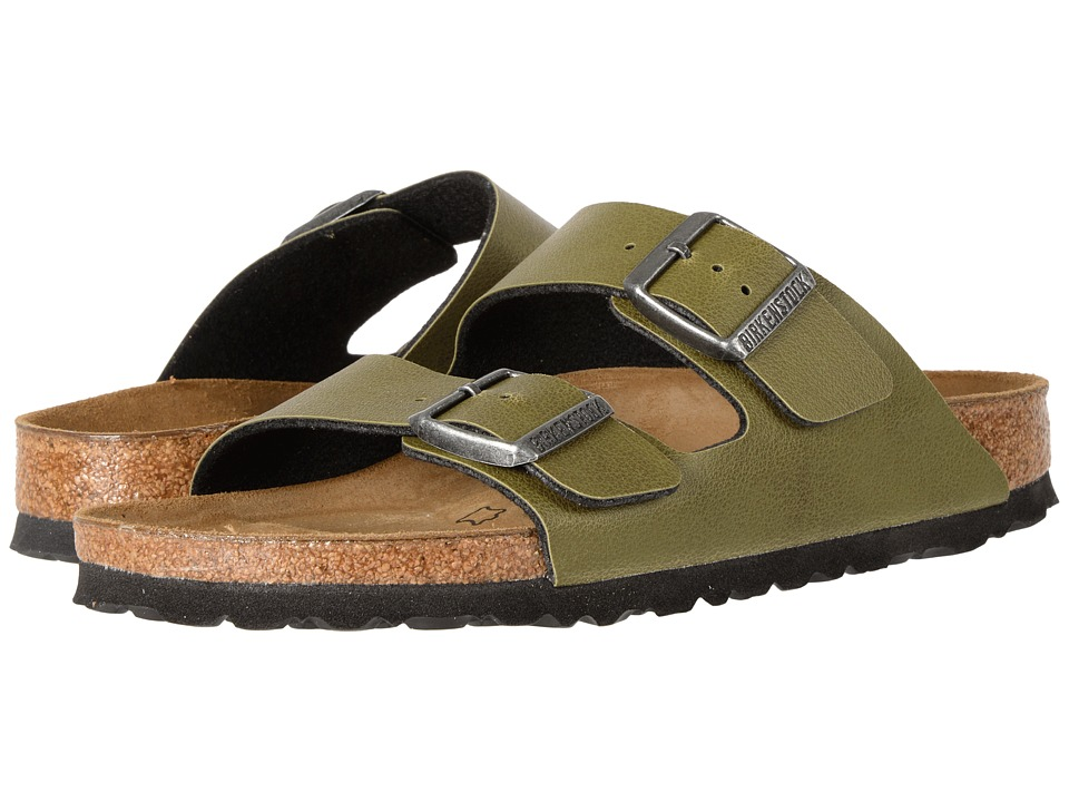 Birkenstock Arizona (Olive Birko-Flor Pull Up) Shoes