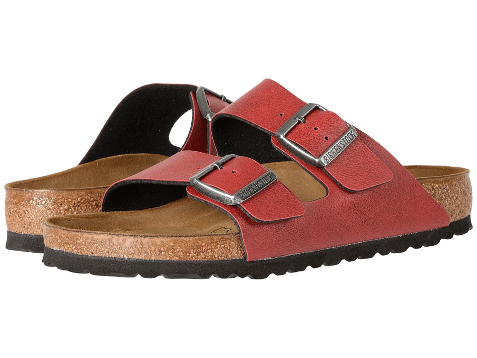 Birkenstock Arizona (Bordeaux Birko-Flor Pull Up) Shoes