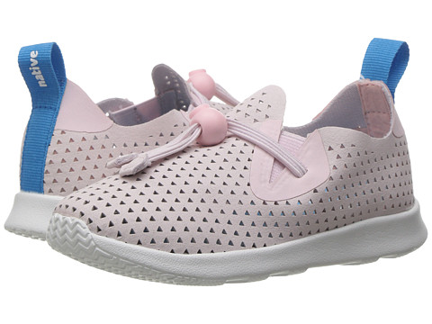 Native Kids Shoes Apollo Moc XL Perforated (Toddler/Little Kid) - Milk Pink/Shell White/Triangle Perf