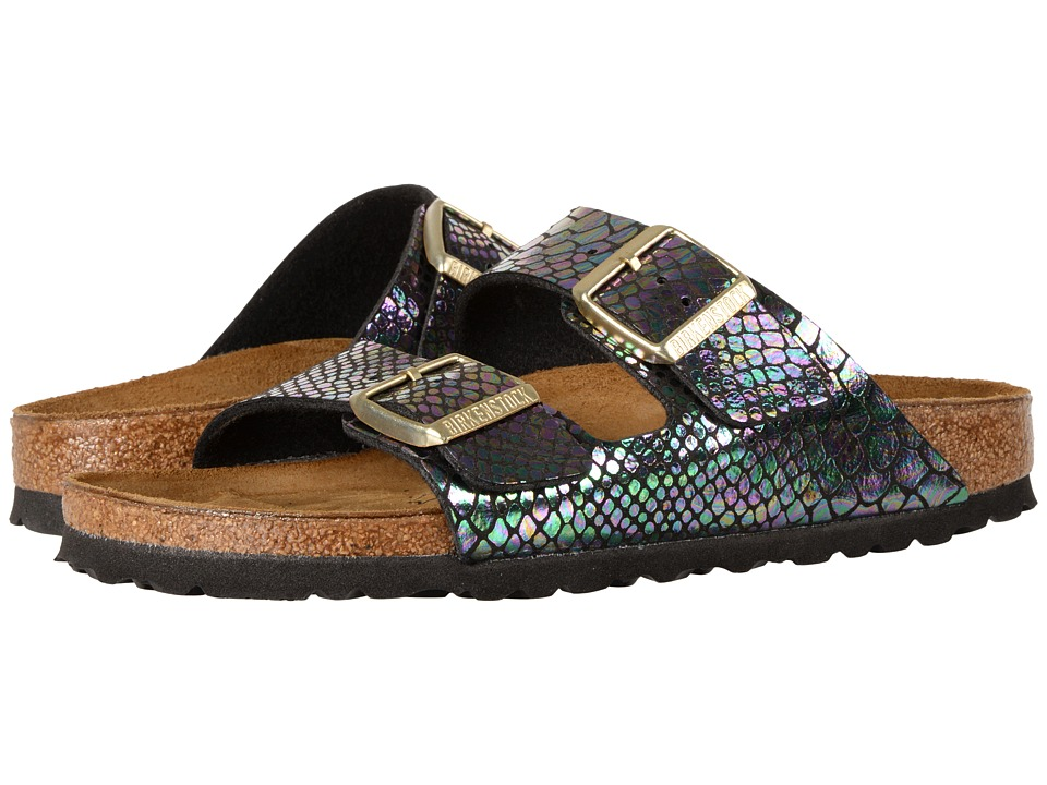 Birkenstock Arizona (Shiny Snake Black Multi Birko-Flor) Women