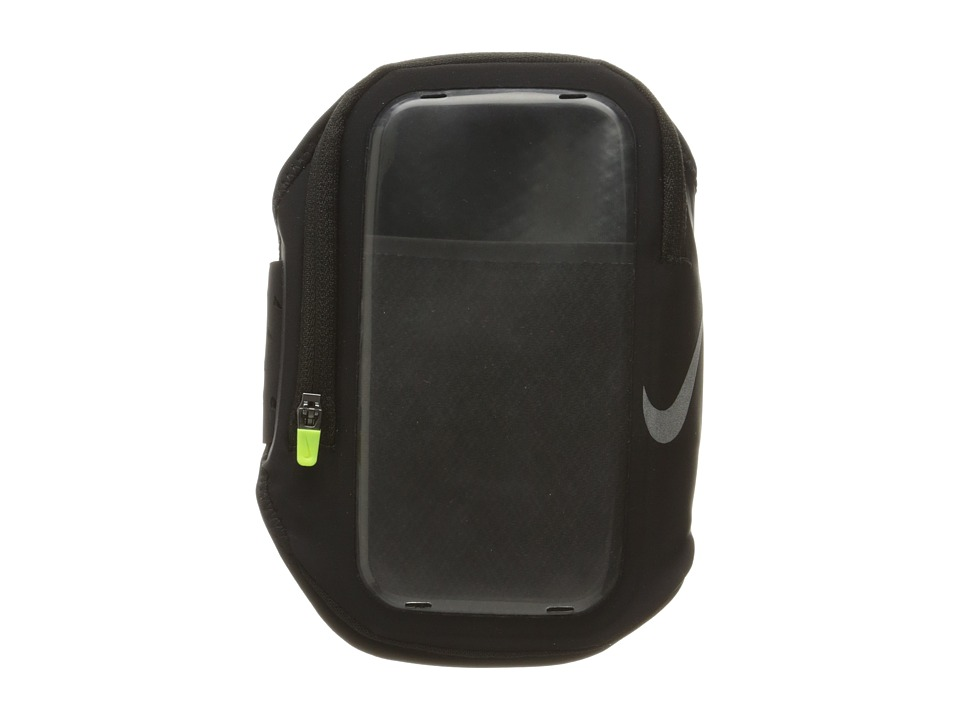 Nike - Pocket Arm Band (Black/Black/Silver) Athletic Sports Equipment