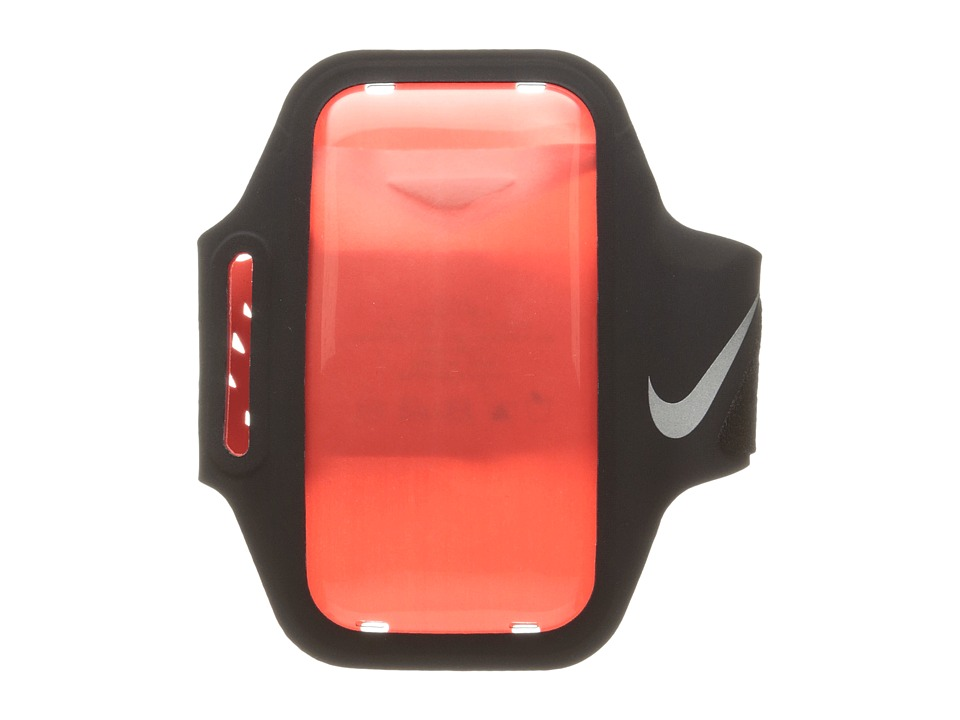 Nike Ventilated Arm Band (Black/Max Orange/Silver) Athlet...