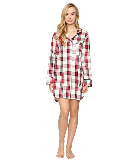 BedHead Long Sleeve Classic Nightshirt - Red Winter Plaid