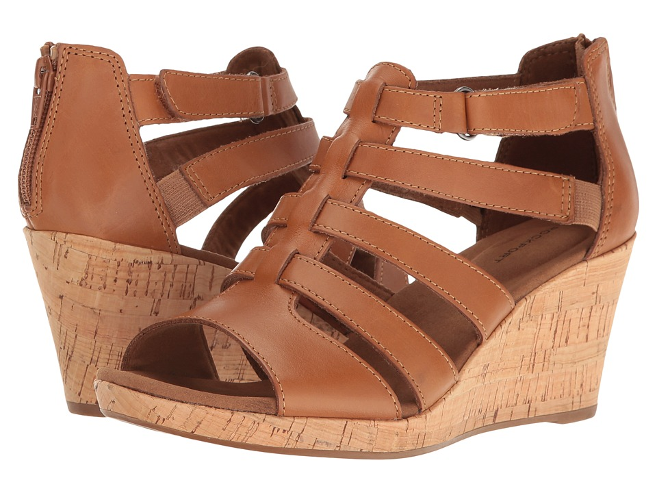Rockport Briah Gladiator (Dark Tan Leather) Women's Shoes
