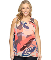Vince Camuto Specialty Size - Plus Size Sleeveless Modern Tropics Blouse