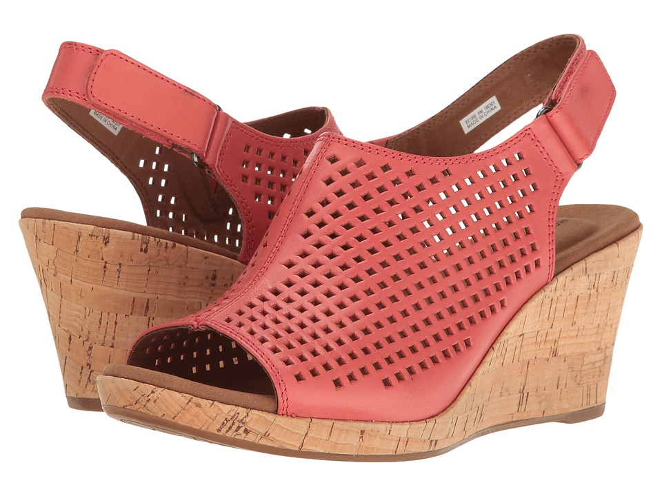 Rockport Briah Perf Sling (Coral Leather) Women's Shoes