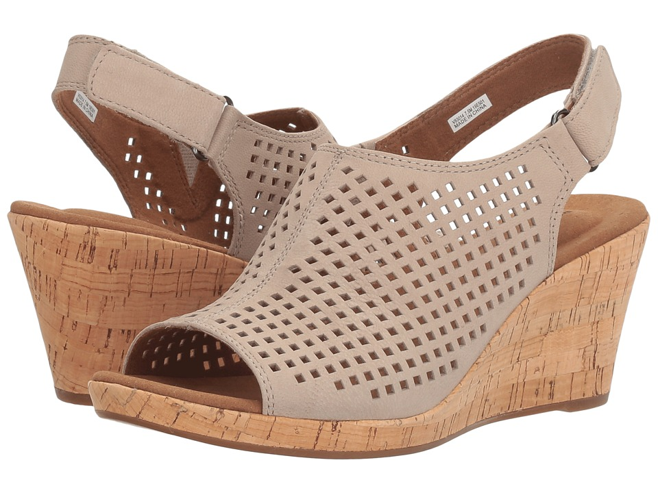 Rockport Briah Perf Sling (Taupe Leather) Women's Shoes