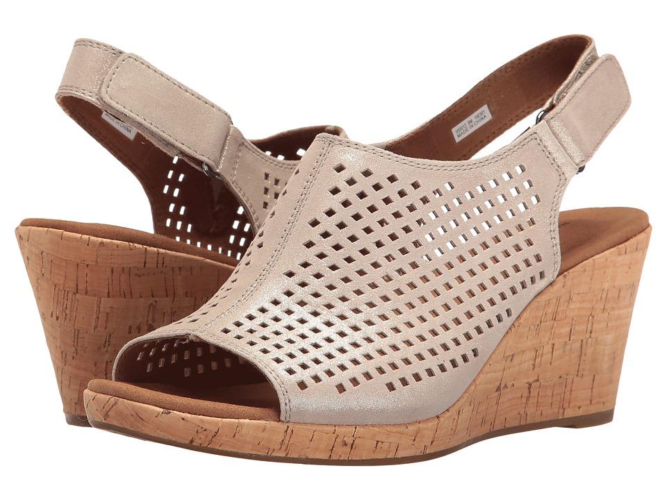 Rockport Briah Perf Sling (Metallic Khaki) Women's Shoes