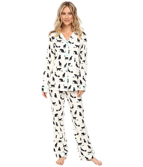 BedHead Long Sleeve Classic Pajama Set - Tiffanys Cat