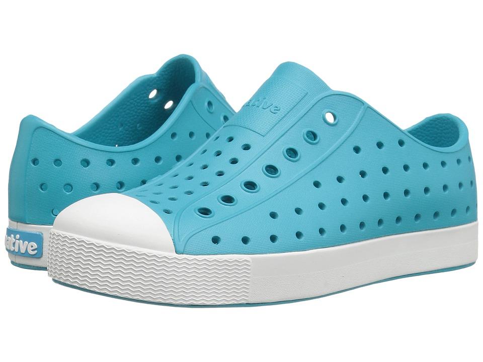 Native Kids Shoes - Jefferson (Little Kid) (Iris Blue/Shell White) Kids Shoes