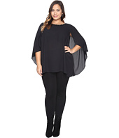Vince Camuto Plus - Plus Size Cape Blouse with Embellished Neck
